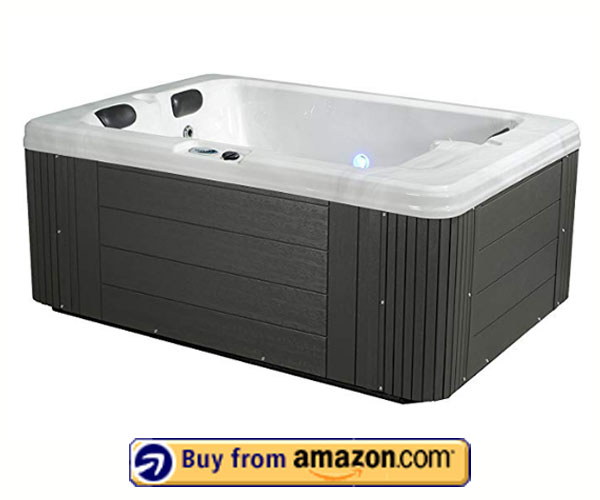 Essential Devotion Hot Tub, Grey - Best 2 Person Hot Tubs Reviews