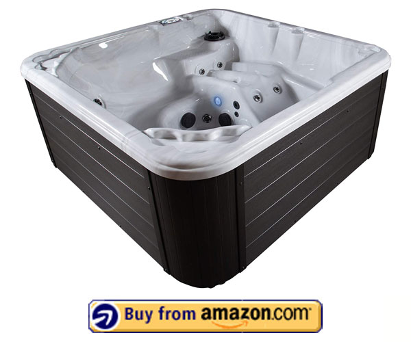 Advantage 20-Jet Acrylic Sterling Cabinet – Best 6 Person Hot Tub For Cold Climates