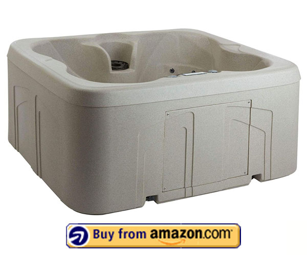 Lifesmart Rock Solid Spa with 13 Jets – Best 4 Person Hot Tub For Cold Climates