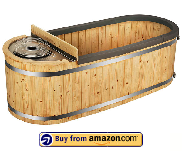 ALEKO's Two-Person Natural Pine – 2 Person Round Hot Tub 2020
