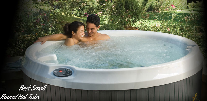 small round hot tubs