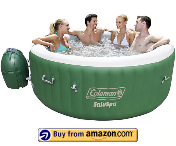 Coleman SaluSpa Inflatable Hot Tub Spa, Green & White – Best Inflatable Hot Tub For Winter 2020