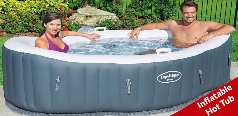 inflatable hot tub in basement 2020