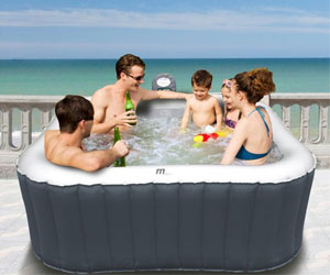 inflatable hot tub with seats