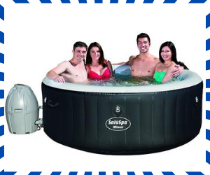 6-8 person inflatable hot tub