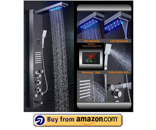 ELLO&ALLO LED Shower Panel Tower System – Decor Star Shower Panel 2020