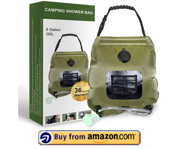 Solar Camping Shower Bag – Best Solar Shower System 2020
