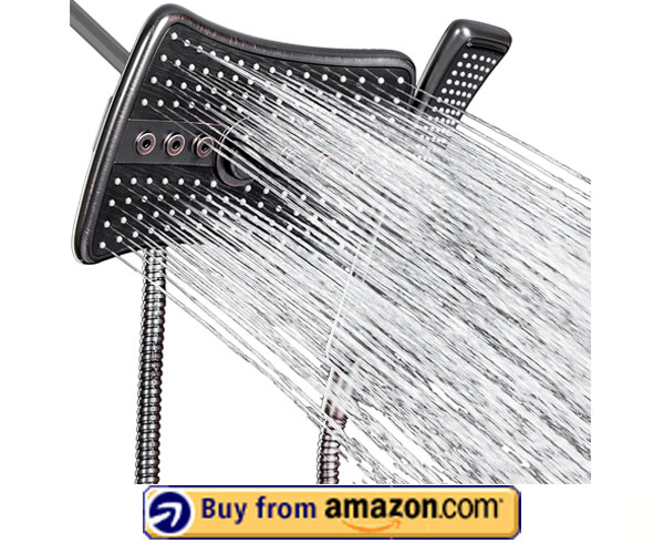 AKDY 9 Rectangular Shower Head – Best Shower Head With Handheld Combo 2020