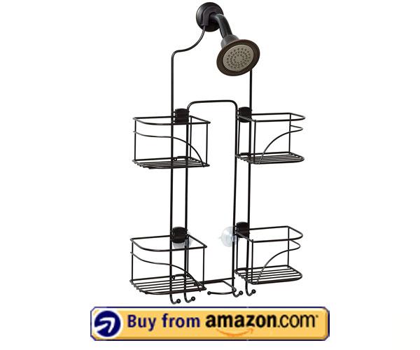 Zenna Home Expandable Shower Caddy – Modern Shower Caddy 2020 – Amazon's Choice