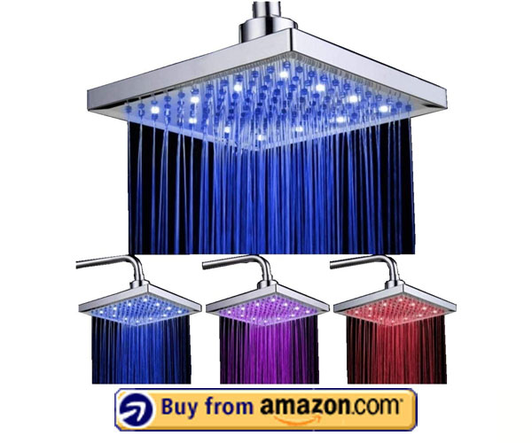 DELIPOP 3 Color Changing Temperature Led Shower Head – Best LED Rain Shower Head 2020
