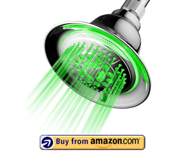 DreamSpa Color Changing LED Shower – Best High-Pressure Shower Heads 2020